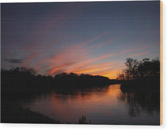 Sunset Lake Williams Wood Print