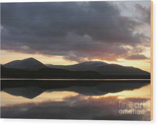Sunset - Loch Morlich - Scotland Wood Print