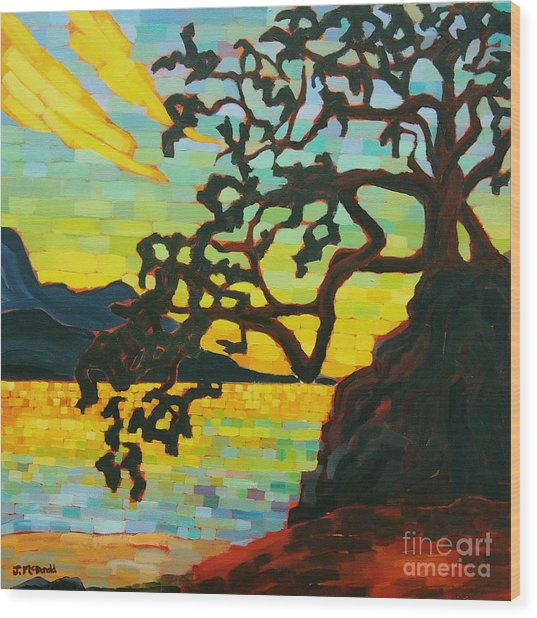 Sunset Mambo Wood Print
