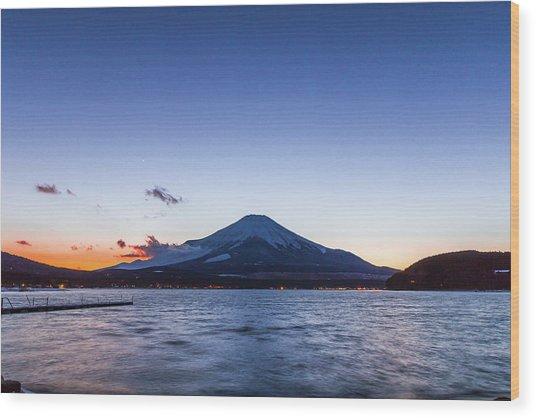 Sunset Mt. Fuji Wood Print by Daisuke Tashiro
