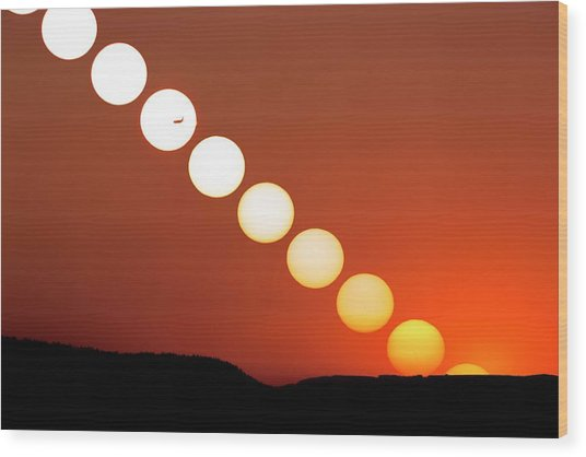Sunset Multiple Exposure Wood Print by Dr Juerg Alean