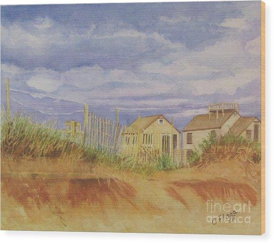 Sunset Nantucket Beach Wood Print