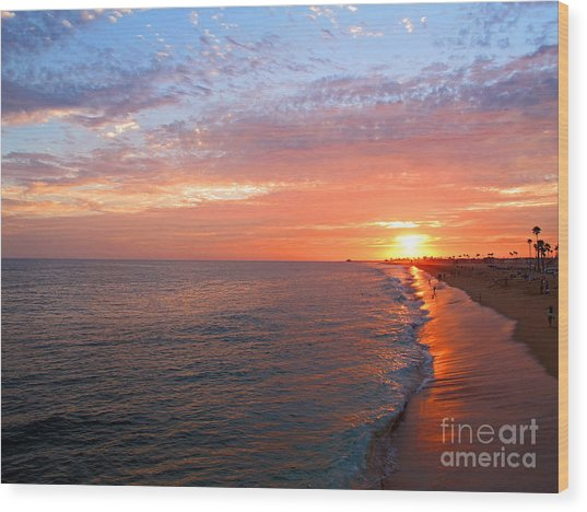 Sunset On Balboa Wood Print
