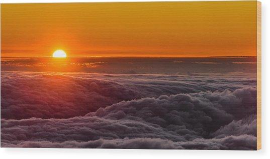 Sunset On Cloud City 1 Wood Print