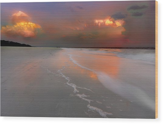Sunset On Hilton Head Island Wood Print