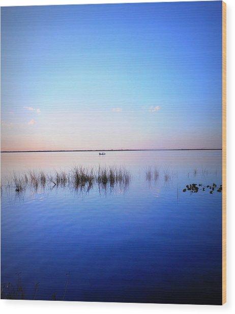 Sunset On Lake Washington 2 Wood Print
