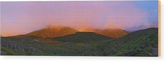 Sunset On Mount Lafayette Wood Print