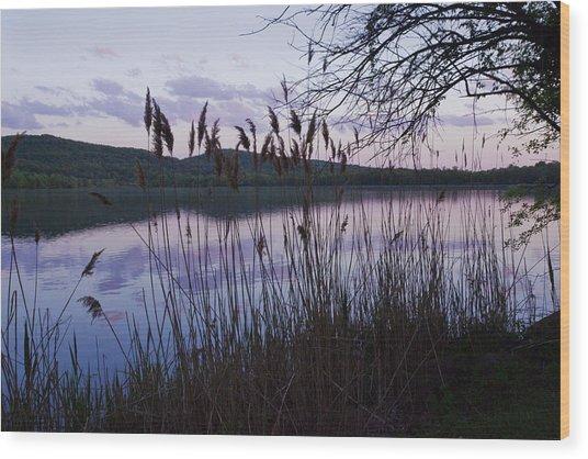 Sunset On Rockland Lake - New York Wood Print