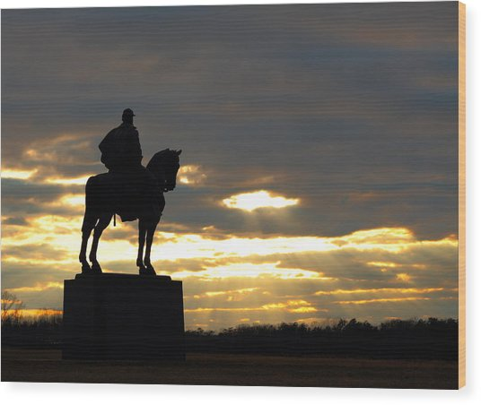 Sunset On The Battlefield Wood Print