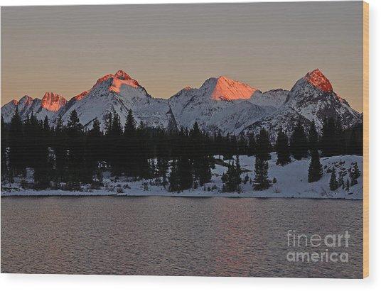 Sunset On The Grenadiers Wood Print