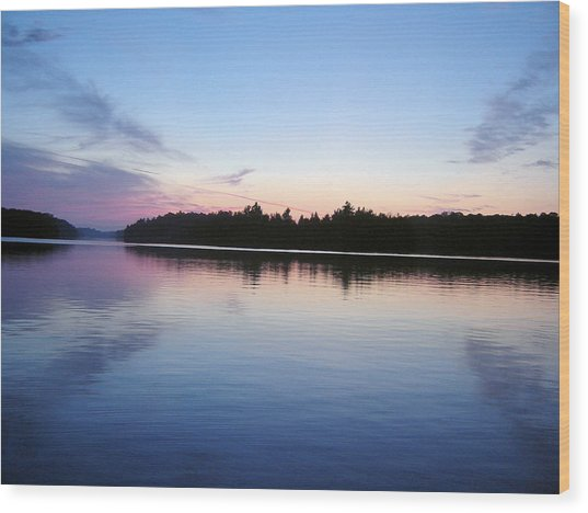 Sunset On The Lake 1 Wood Print by Gaetano Salerno