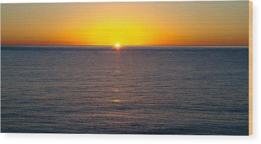 Sunset Over Baja Wood Print