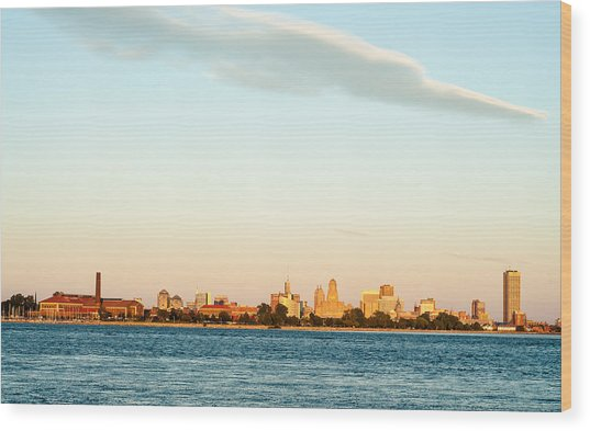Wood Print featuring the photograph Sunset Over Buffalo New York by Rosemary Legge