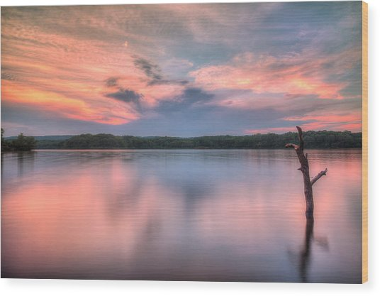 Sunset Over Cootes Wood Print by Craig Brown