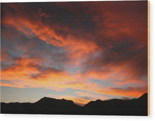 Sunset Over Estes Park Wood Print