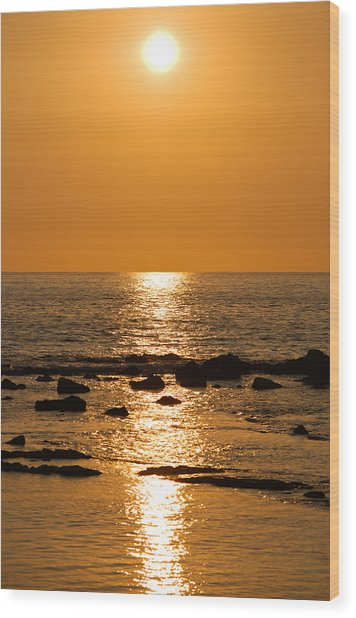 Sunset Over Kona Wood Print