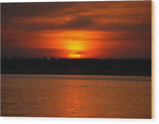 Sunset Over Lake Martin Wood Print