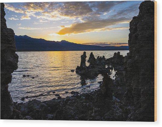 Sunset Over Mono Lake Wood Print