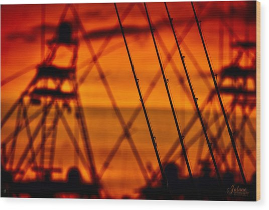 Sunset Over Sailfish Wood Print