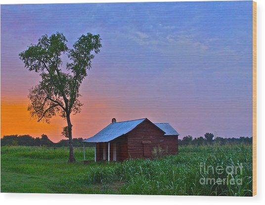 Sunset Over Salma - No.009 Wood Print