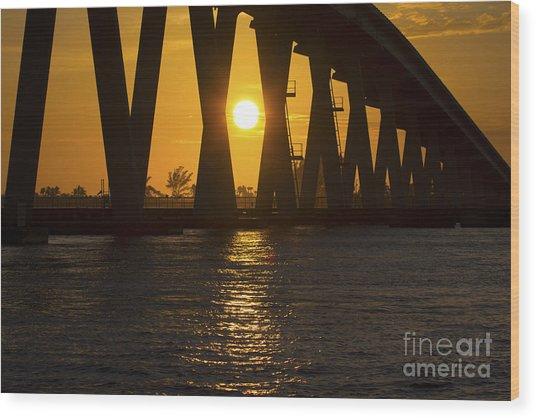 Sunset Over Sanibel Island Photo Wood Print