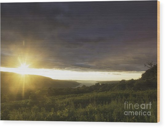 Sunset Over Skaneateles Wood Print