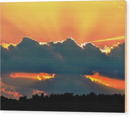 Sunset Over Southern Ohio Wood Print
