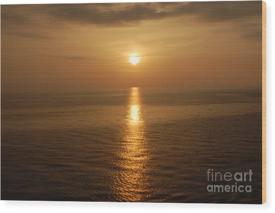 Sunset Over The Adriatic Wood Print
