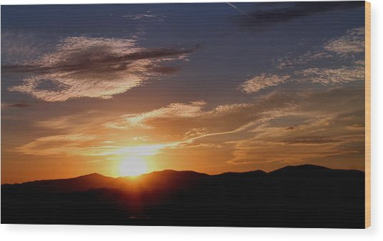 Sunset Over The Blue Ridge Wood Print