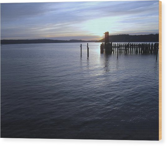 Sunset Over Titlow Wood Print