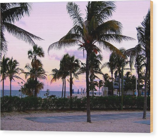 Sunset Over Waikiki Wood Print