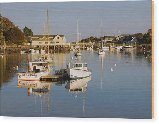 Sunset Over York Harbor Wood Print