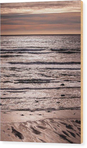 Sunset Ocean Wood Print
