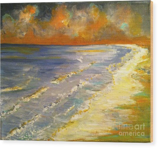 Sunset Passion At Cranes Beach Wood Print