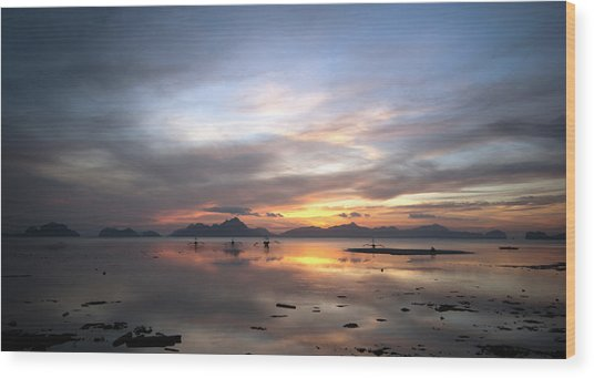 Sunset Philippines Wood Print