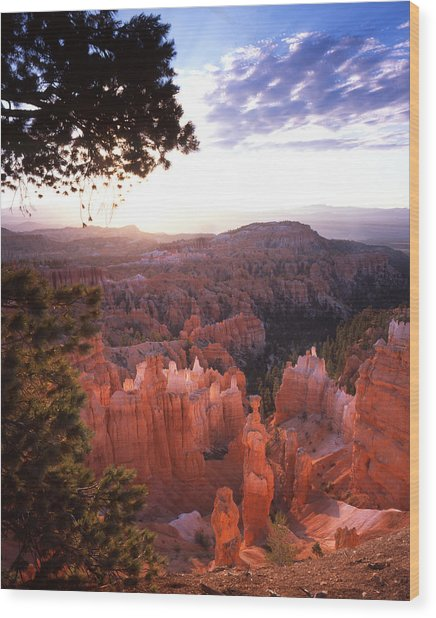 Sunset Point Sunrise Wood Print