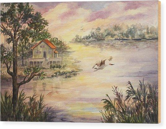 Sunset Retreat Wood Print