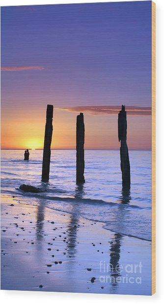 Sunset Romance Wood Print