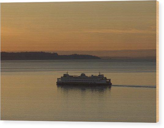 Sunset Sail Wood Print by Stephen Prestek