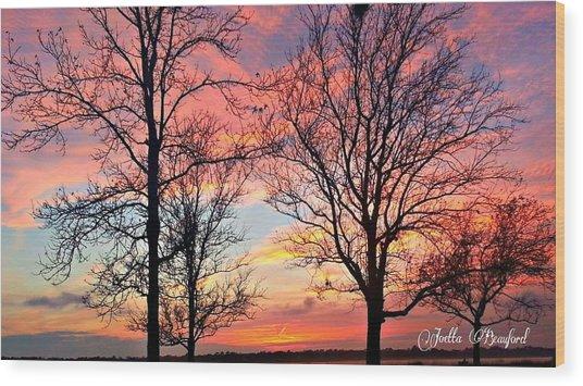 Sunset Shadow Wood Print