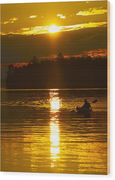 Sunset Solitude  Wood Print