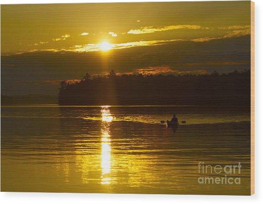 Sunset Solitude II Wood Print