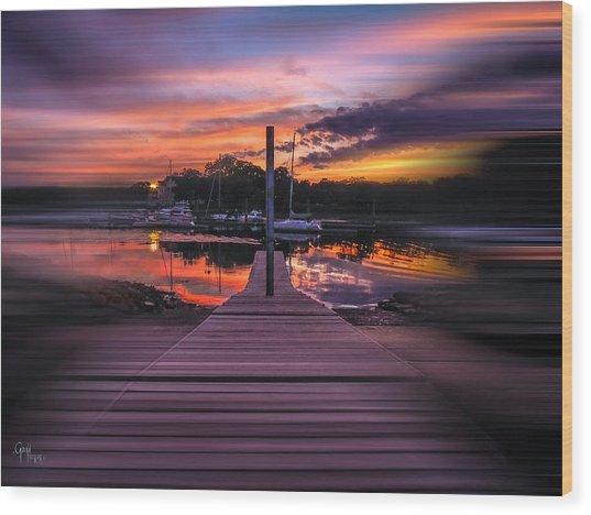 Sunset Spin Wood Print