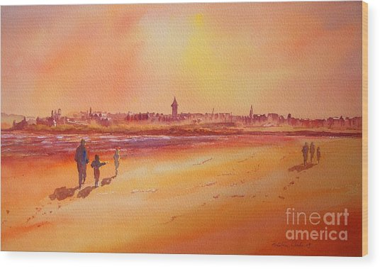 Sunset St Andrews Scotland Wood Print