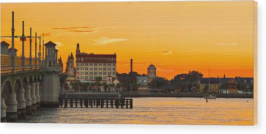 Sunset St. Augustine Wood Print