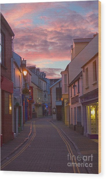 Wood Print featuring the photograph Sunset Street by Jeremy Hayden