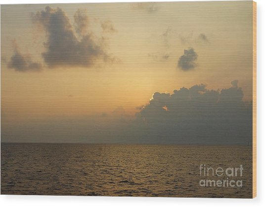 sunset time Oahu Wood Print by Nur Roy