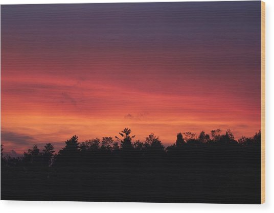 Sunset Tones Wood Print