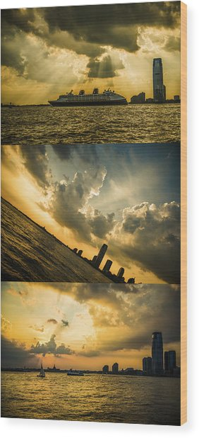 Sunset Trilogy Wood Print