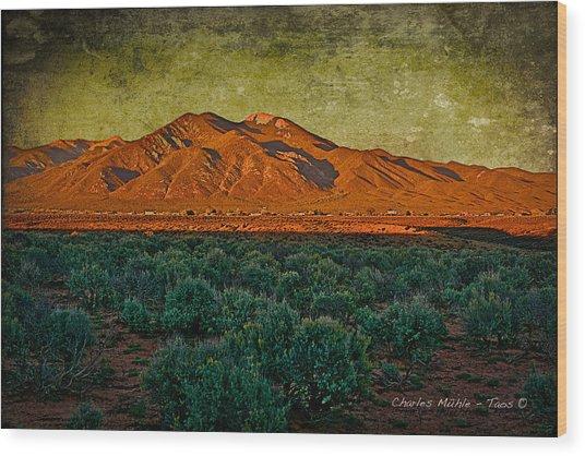 Sunset V Wood Print
